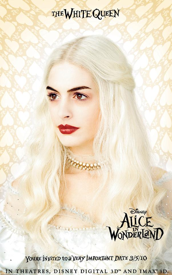 "<a href=""http://movies.yahoo.com/movie/contributor/1804705919"">Anne Hathaway</a> stars as the White Queen in Walt Disney Pictures' <a href=""http://movies.yahoo.com/movie/1810078365/info"">Alice in Wonderland</a> - 2010"