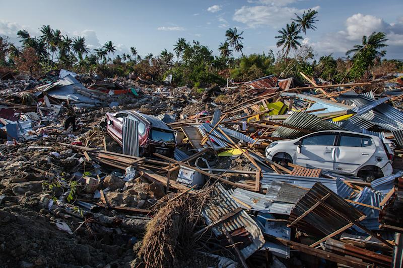 Sulawesi, Indonesia - after the quake and tsunami