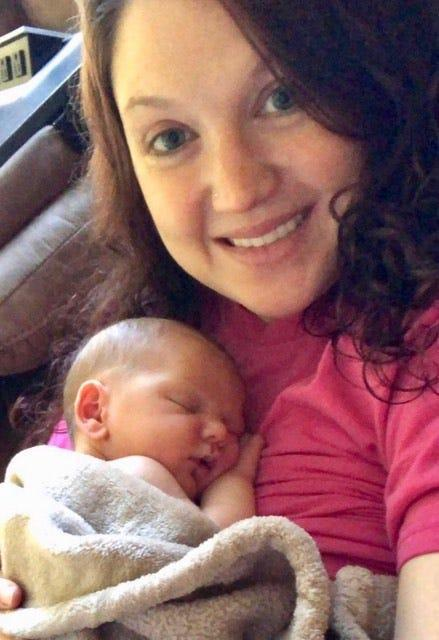 This is Olivia Cook and her son Parker. Cook recently had an experience while at a restaurant in Gettysburg where she said she was asked to cover up while breastfeeding.