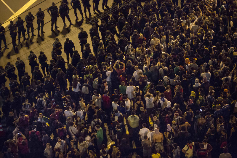 Protests target Confederation Cup match in Rio