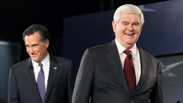 Romney Hints at Gingrich Face-Off