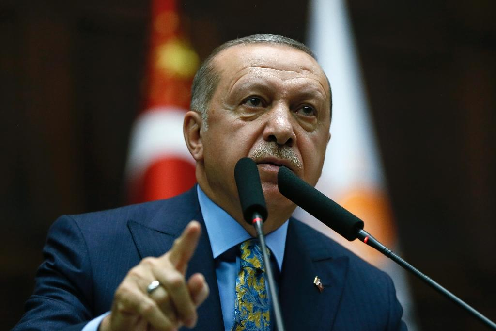 Turkish President Recep Tayyip Erdogan outlined the steps taken by what he said was 15 person team who came from Riyadh planning to kill Jamal Khashoggi (AFP Photo/KAYHAN OZER, HO)