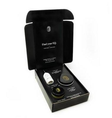 Equilibria's Brilliance Box includes: Daily Soft Gels, Daily Drops and Relief Cream