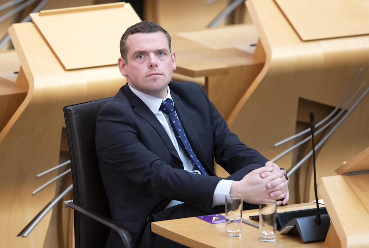 Scottish Conservative leader Douglas Ross said the announcement was a 'disappointing setback' for many areas (Jane Barlow/PA)