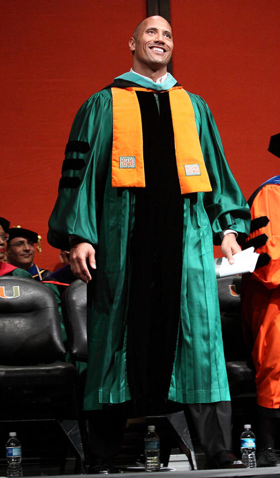 Dwayne Johnson Delivers Commencement Speech at University of Miami