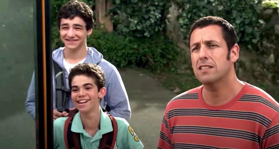 """Cameron Boyce (in the middle) played Adam Sandler's son in """"Grown Ups"""" and """"Grown Ups 2."""" (Photo: Grown Ups)"""