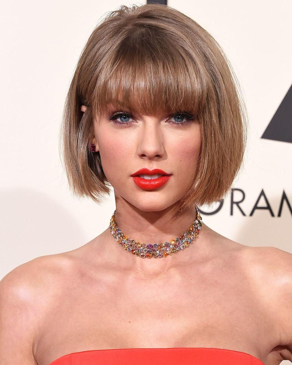 """<p>Swift loves her <a href=""""http://www.thesmokinggun.com/file/taylor-swift-rider"""" rel=""""nofollow noopener"""" target=""""_blank"""" data-ylk=""""slk:Starbucks"""" class=""""link rapid-noclick-resp"""">Starbucks</a> so much that her very specific order has to be delivered to her before 11 a.m. The order includes 1 Grande ICED Caramel Latte with 2 Sweet-N-Lows, 1 Grande ICED Americano with 2 Sweet-N-Lows and soy milk, and 1 slice of Pumpkin loaf.</p>"""