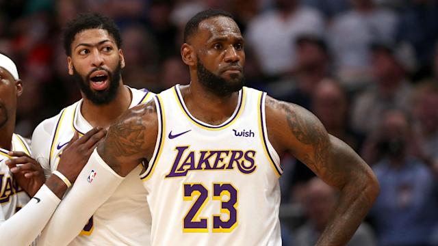 Los Angeles Lakers were inspired to victory by LeBron James against the Utah Jazz but their star man had an embarrassing moment.