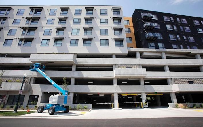 Jules on 3rd, a new apartment building in at 3rd Street and Myrtle Street in downtown Boise has a county-owned parking garage with nearly 400 spaces.