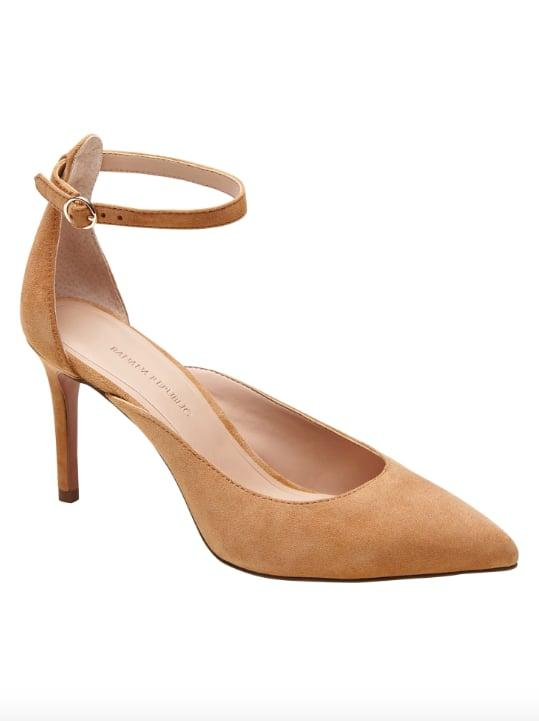 "<p>The flesh-tone color of the <a href=""https://www.popsugar.com/buy/Ankle-Strap-Pump-525472?p_name=Ankle-Strap%20Pump&retailer=bananarepublic.gap.com&pid=525472&price=128&evar1=fab%3Aus&evar9=46963684&evar98=https%3A%2F%2Fwww.popsugar.com%2Ffashion%2Fphoto-gallery%2F46963684%2Fimage%2F46963693%2FAnkle-Strap-Pump&prop13=mobile&pdata=1"" rel=""nofollow"" data-shoppable-link=""1"" target=""_blank"" class=""ga-track"" data-ga-category=""Related"" data-ga-label=""https://bananarepublic.gap.com/browse/product.do?pid=491044002&amp;rrec=true&amp;mlink=5050,12413545,brproduct1_rr_5&amp;clink=12413545#pdp-page-content"" data-ga-action=""In-Line Links"">Ankle-Strap Pump</a> ($128) is a not-so-basic nude that's a solid choice when you don't want your shoes to compete with the rest of your outfit.</p>"