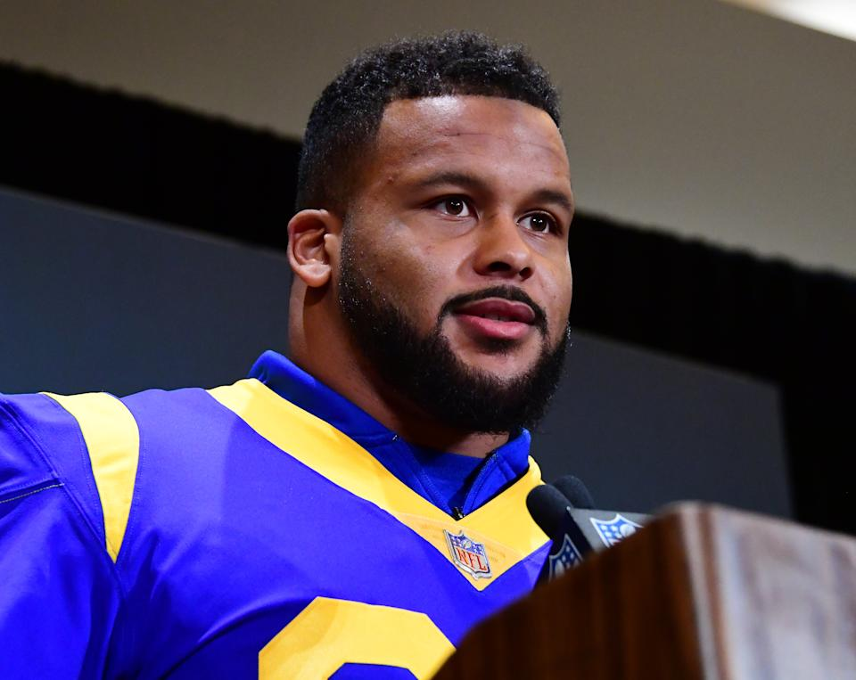 The Rams' scouting staff saw plenty of special in Aaron Donald before the 2014 NFL draft (Getty Images).