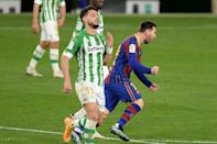 Lionel Messi came off the bench to spark Barcelona's come-from-behind win over Betis