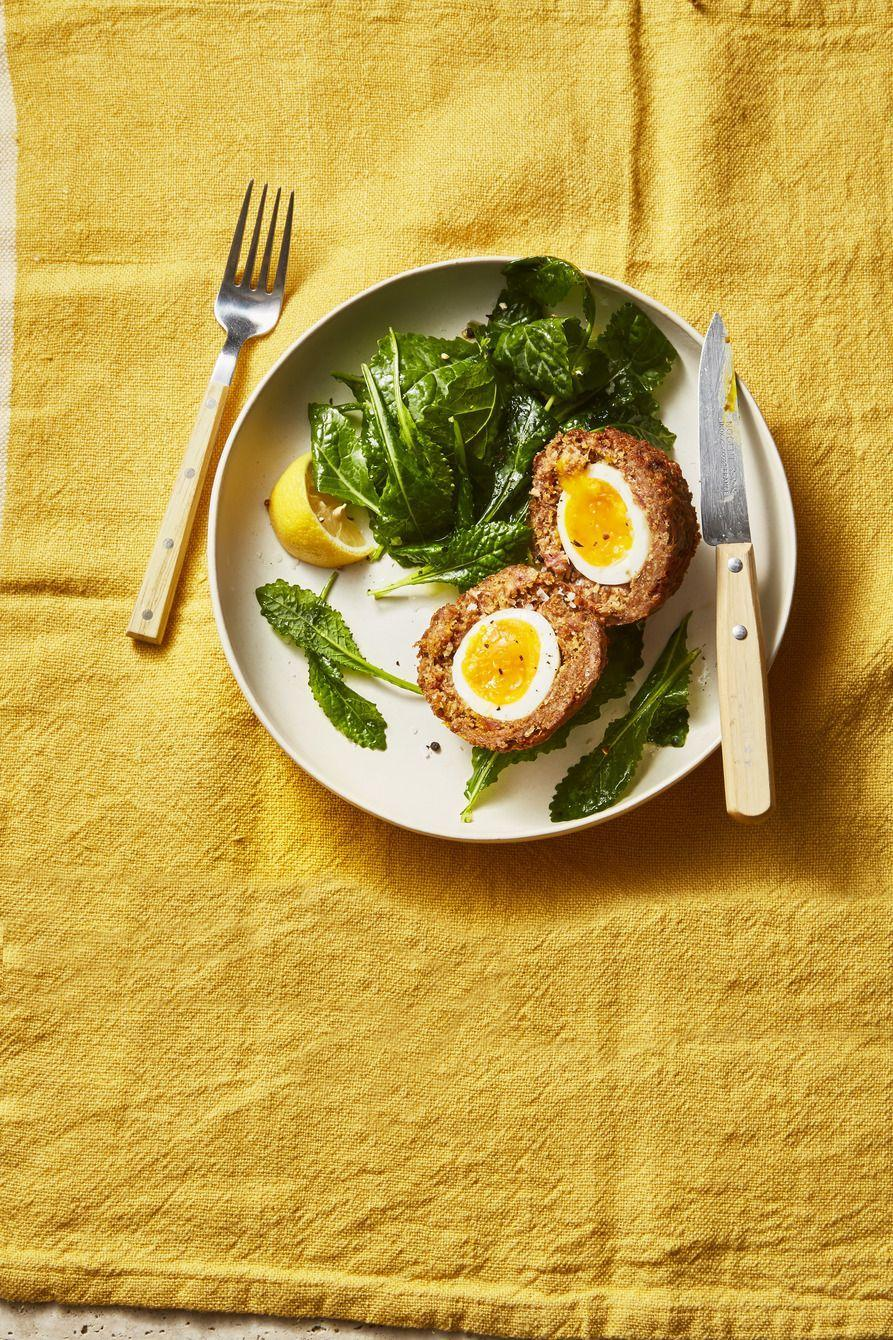 """<p>Soft boiled eggs wrapped in seasoned ground beef then fired make for an epic brunch recipe. Be sure to prep an extra batch for breakfast throughout the week.</p><p><em><a href=""""https://www.goodhousekeeping.com/food-recipes/a36556113/scotch-eggs-recipe/"""" rel=""""nofollow noopener"""" target=""""_blank"""" data-ylk=""""slk:Get the recipe for Scotch Eggs »"""" class=""""link rapid-noclick-resp"""">Get the recipe for Scotch Eggs »</a></em> </p><p><strong>RELATED:</strong> <a href=""""https://www.goodhousekeeping.com/food-recipes/easy/g3586/best-ground-beef-recipes/"""" rel=""""nofollow noopener"""" target=""""_blank"""" data-ylk=""""slk:70+ Easy Ground Beef Recipes for True Meat Lovers"""" class=""""link rapid-noclick-resp"""">70+ Easy Ground Beef Recipes for True Meat Lovers</a></p>"""
