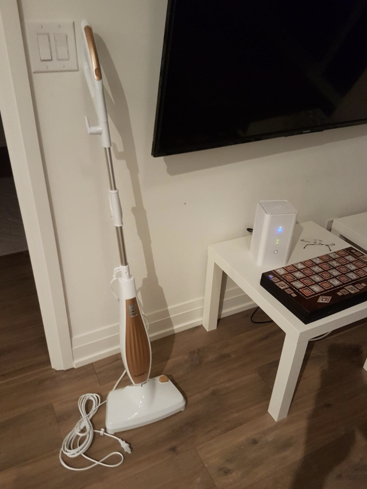 The iwoly M11 Steam Mop - customer image from Amazon Canada.