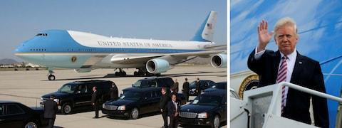 Trump was initially reluctant to ditch his personal aircraft for Air Force One - Credit: Nova Wiffen