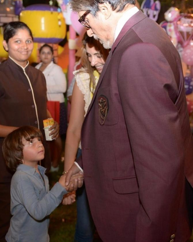 Amitabh Bachchan and AbRam Khan