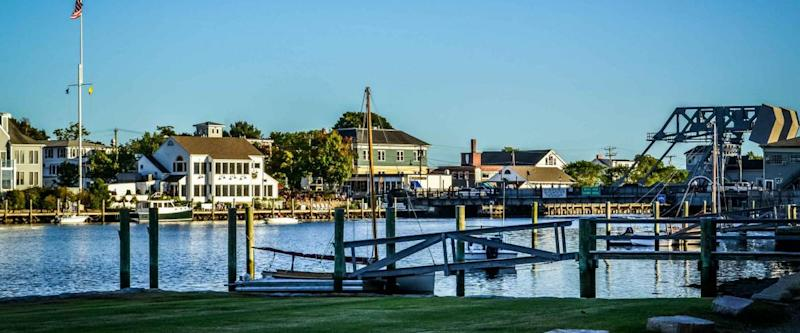 Downtown Fishing Village docks and boats mystic Connecticut