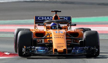 Motor Racing - F1 Formula One - Formula One Test Session - Circuit de Barcelona-Catalunya, Montmelo, Spain - March 9, 2018. Fernando Alonso of McLaren during testing. REUTERS/Albert Gea