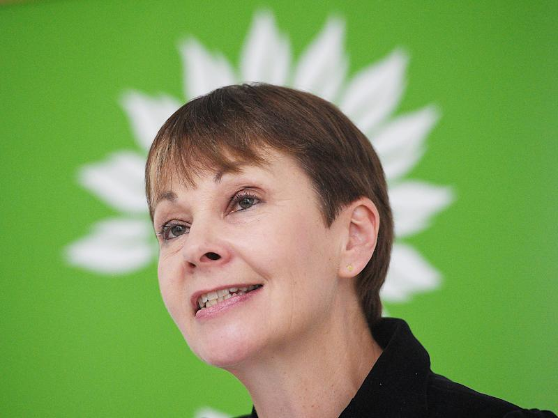 Caroline Lucas announced that the Green Party will push for a ratification referendum: EPA