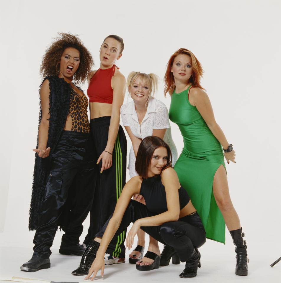 "<p>The girl group's debut album, <i>Spice</i>, hit #1 in May 1997 and went on to become the best-selling album of the year in the U.S. That marked the only time that a British group has had the year's top seller since Nielsen began tracking music sales in 1991. The group's follow-up album, <i>Spiceworld</i>, also made the top 10 (in February 1998). In addition, the group had four top 10 singles. ""Wannabe,"" the lead single from Spice, hit #1. </p>"