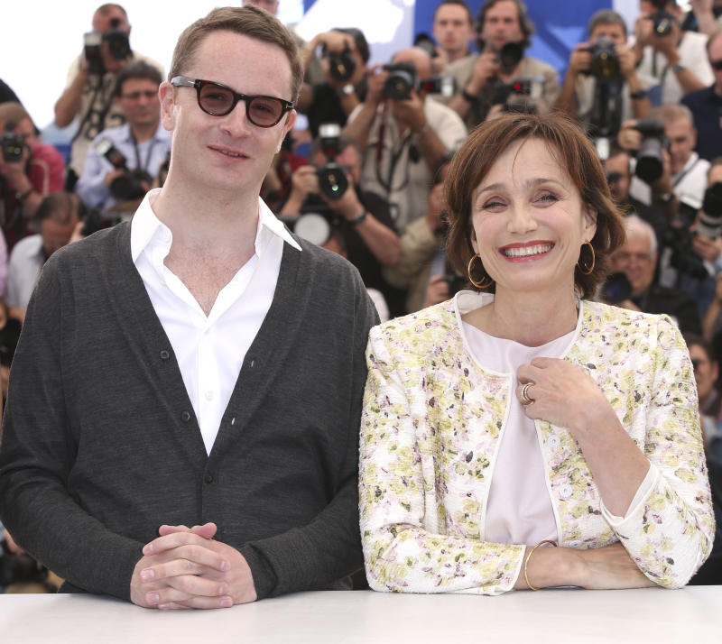 Director Nicholas Winding Refn and actor Kristen Scott Thomas pose for photographers during a photo call for the film Only God Forgives at the 66th international film festival, in Cannes, southern France, Wednesday, May 22, 2013. (Photo by Joel Ryan/Invision/AP)