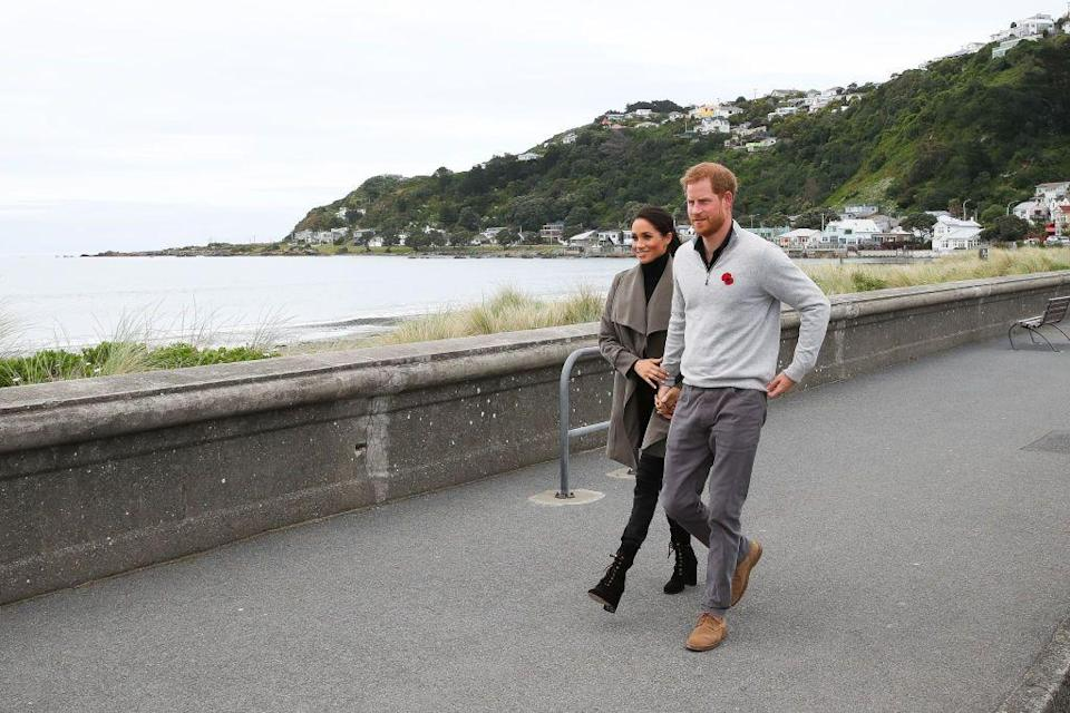 <p>The couple visited Maranui Cafe to discuss mental health with New Zealand youths. </p>