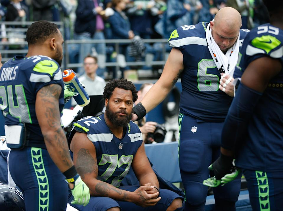 Should the NFL expect more players to join Michael Bennett and others by kneeling during the national anthem? (Getty)