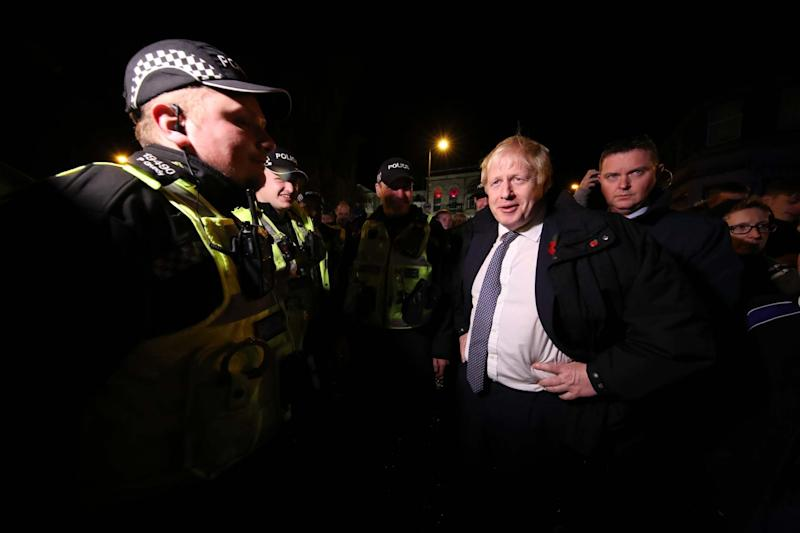 Prime Minister Boris Johnson visits Matlock to view the flooding on November 8 (Getty Images)