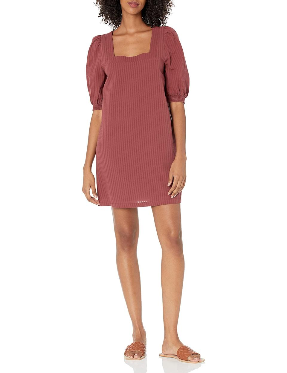 """<h2>Puff Sleeve Dresses</h2><br>These statement-sleeved frocks are easily dressed down with your favorite pair of sneakers or dressed up with heels or boots. <br><br><strong>BB Dakota by Steve Madden</strong> Truly Madly Deeply Dress, $, available at <a href=""""https://amzn.to/3CzwMyR"""" rel=""""nofollow noopener"""" target=""""_blank"""" data-ylk=""""slk:Amazon"""" class=""""link rapid-noclick-resp"""">Amazon</a>"""