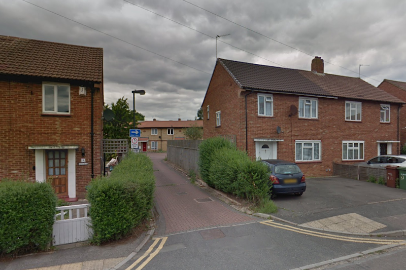 Police appeal: The victim was chased into Eastway Crescent before being stabbed repeatedly: Google