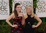 Comedians Tina Fey (L) and Amy Poehler (R) are back to host the Golden Globes once again in 2021, but this time, they will not be side by side but on opposite coasts