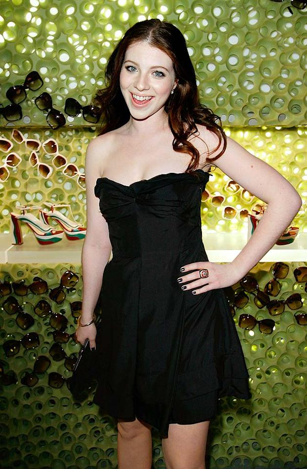 "Michelle Trachtenberg is sassy in her LBD by Miu Miu and matching black nail polish. Donato Sardella/<a href=""http://www.wireimage.com"" target=""new"">WireImage.com</a> - March 19, 2008"