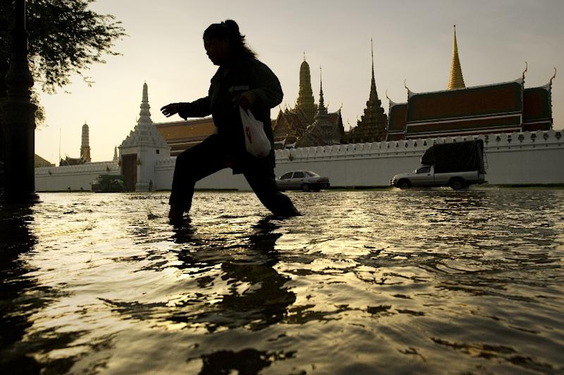 Flooding will become even more frequent in Bangkok as sea levels rise (AFP Photo/Nicolas ASFOURI)