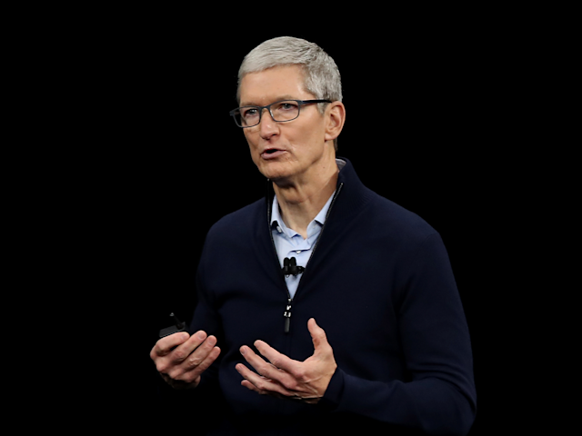 Apple CEO Tim Cook at the annual Allen and Co. conference in 2013.