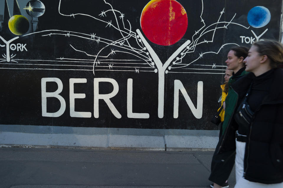 BERLIN, GERMANY: East Side Gallery is an outdoor art gallery located on a 1,316-meter section of the Berlin Wall, which were saved from demolition for that purpose. (Photo: Oscar Gonzalez/NurPhoto via Getty Images)