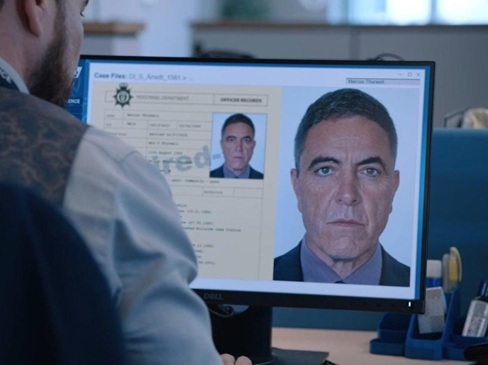 James Nesbitt, as glimpsed in the latest episode of Line of Duty (BBC)