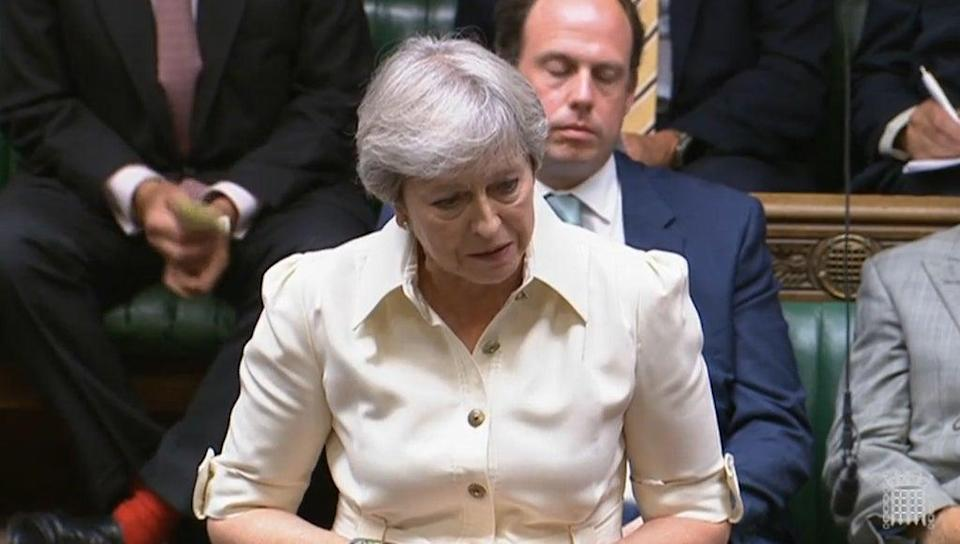 Theresa May says she is disappointed police are still holding misconduct proceedings in private (House of Commons/PA) (PA Wire)