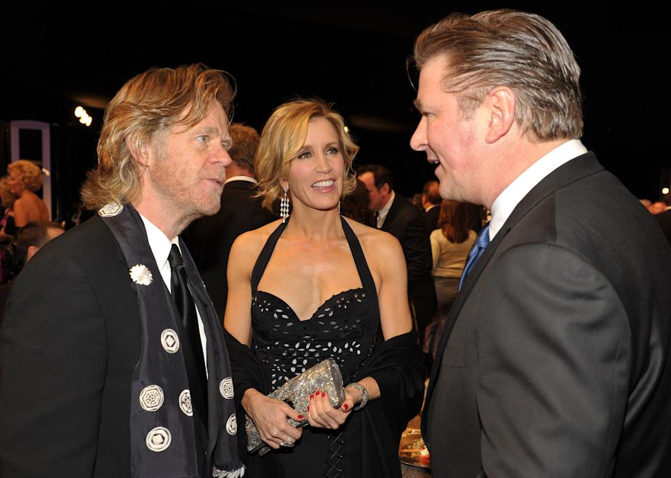 Actors William Macy, Felicity Huffman, and Alec Baldwin attend the TNT/TBS broadcast of the 16th Annual Screen Actors Guild Awards at the Shrine Auditorium on January 23, 2010 in Los Angeles, California. 19379_006_JS_0172.JPG