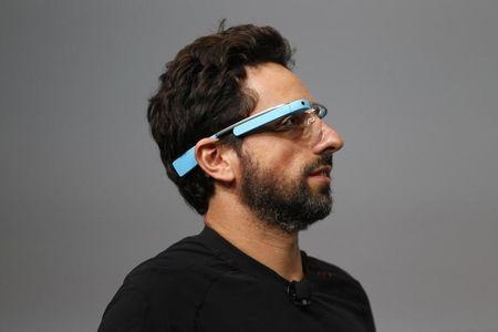 Sergey Brin, CEO and co-founder of Google, wears a Google Glass during a product demonstration during Google I/O 2012 at Moscone Center in San Francisco, California June 27, 2012. REUTERS/Stephen Lam I