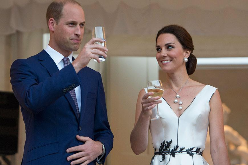 The Duchess of Cambridge and her husband Prince William marked their first day on tour in Poland with a Queen's Birthday Garden Party.
