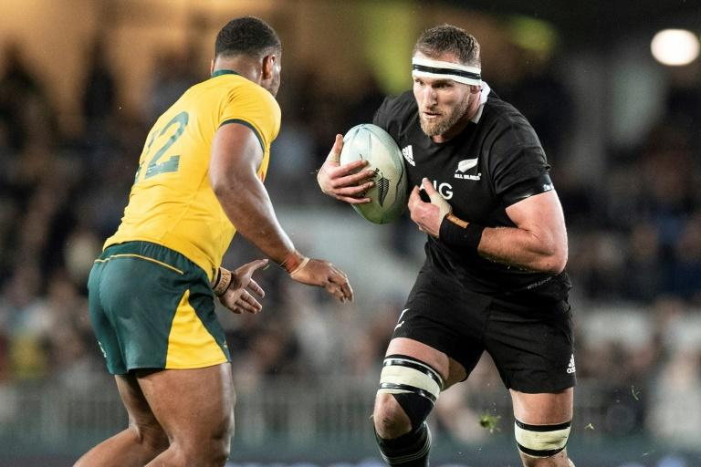 Captain Kieran Read (R) is hoping to lead New Zealand to their third straight Rugby World Cup title