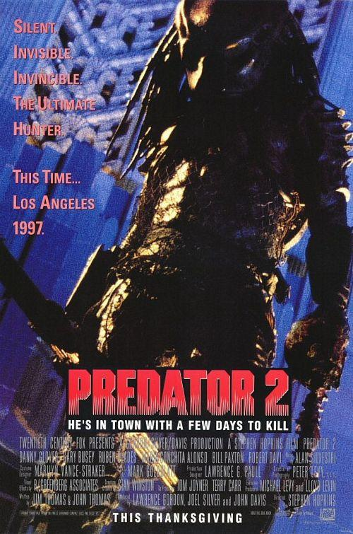 The poster for Predator 2 (20th Century Fox)