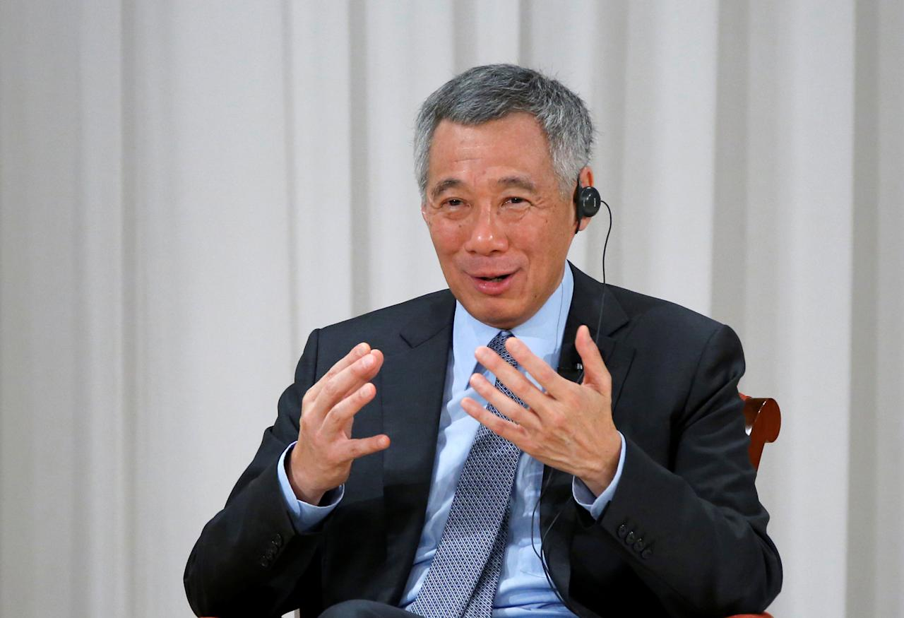 Singapore Prime Minister Lee Hsien Loong speaks at the International Conference on The Future of Asia in Tokyo, Japan, September 29, 2016. REUTERS/Kim Kyung-Hoon