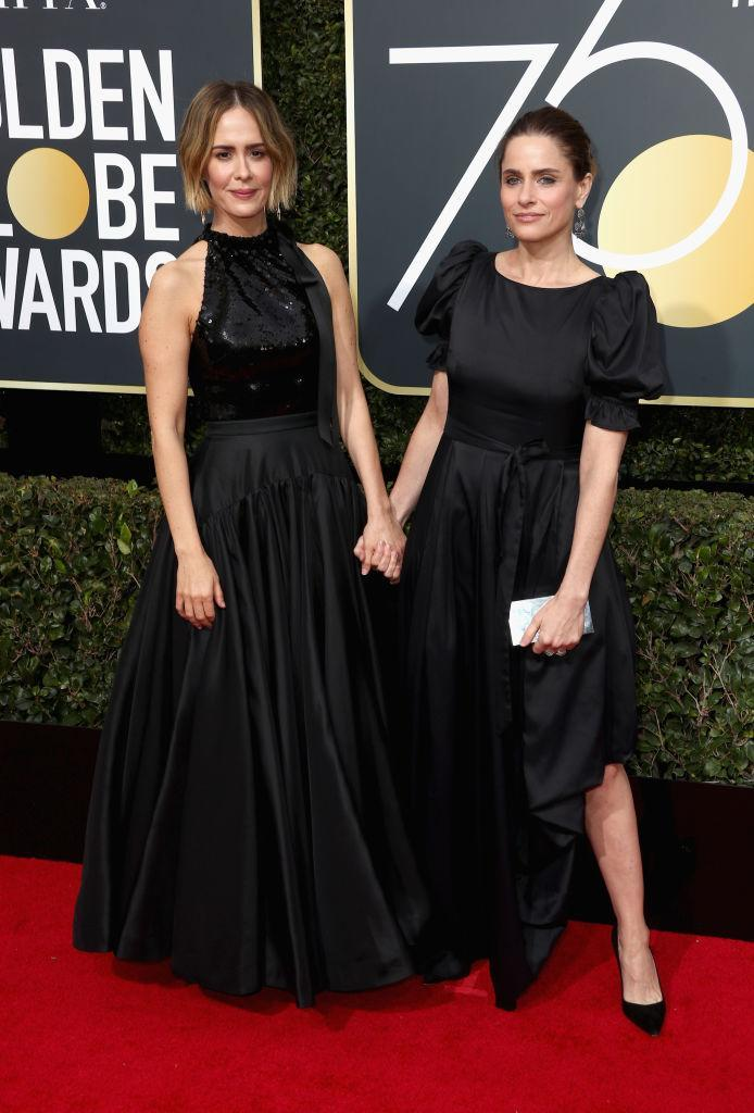 <p>The old pals (<i>Jack & Jill</i>!) attend the 75th Annual Golden Globe Awards at the Beverly Hilton Hotel in Beverly Hills, Calif., on Jan. 7, 2018. (Photo: Steve Granitz/WireImage) </p>