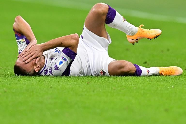 Fiorentina's Franck Ribery went off injured.
