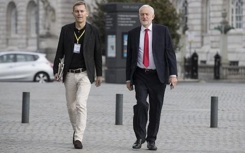 Jeremy Corbyn arriving at his interview with Andrew Marr - Credit: Simon Dawson