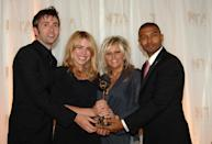 (R-L) Noel Clarke, Camille Coduri, Billie Piper and David Tennant with the award for Most Popular Drama for Doctor Who at the National Television Awards 2006 at the Royal Albert Hall in west London. (Photo by Ian West - PA Images/PA Images via Getty Images)