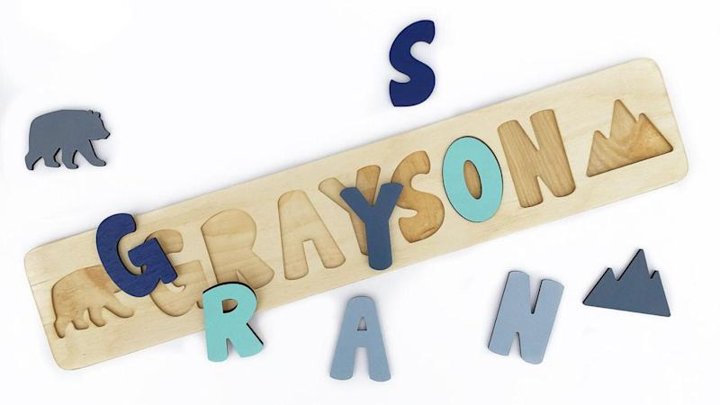 Best personalized gifts 2019: Wooden name puzzle