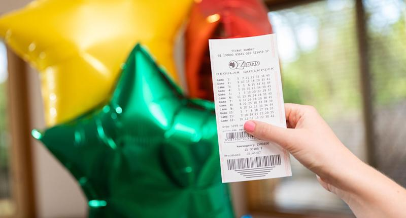 Oz Lotto ticket pictured as a NSW winner claimed the $50 million jackpot in Tuesday's draw.