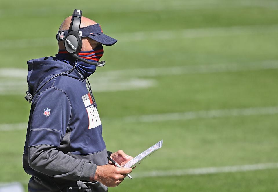Head coach Matt Nagy of the Chicago Bears